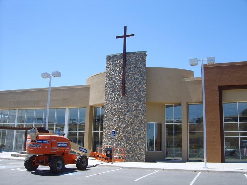 Amador Catholic Center - 25' Front lit cross